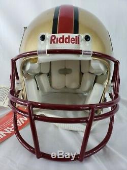 Vintage SAN FRANCISCO 49ERS NFL Riddell Full Size Authentic Football Helmet