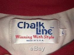 Vintage SAN FRANCISCO 49ers 80s USA Chalk Line FANIMATION Jacket Prospector LG