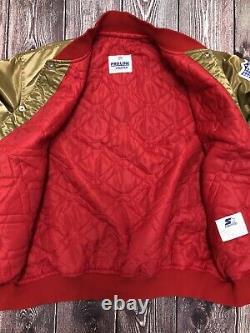 Vintage STARTER NFL SF San Francisco 49ers Gold Satin Jacket Size XXL EUC