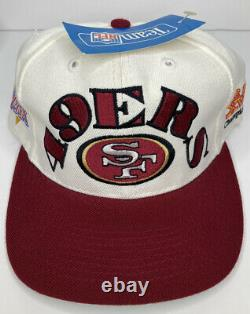 Vintage San Francisco 49ers Annco Pro Model Super Bowl Champs Snapback Hat White