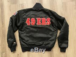Vintage San Francisco 49ers Black & Gold Reversible Starter Satin Jacket Small