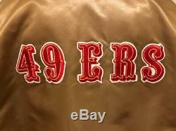 Vintage San Francisco 49ers Gold Satin Authentic Starter Mens XXL Tall Jacket