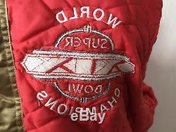 Vintage San Francisco 49ers Gold Satin Starter Jacket -Super Bowl 19, sz large