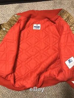 Vintage San Francisco 49ers Satin Jacket by Starter Pro Line Size Medium
