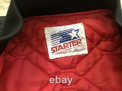 Vintage San Francisco 49ers Starter Satin Football Jacket, Size XL
