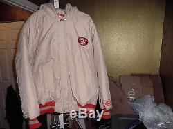 Vintage San Francisco 49ers Throwback Puffy Parka Starter Jacket XL New! Gold