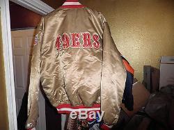 Vintage San Francisco 49ers Throwback Satin Starter Jacket xxl 2xl Mint