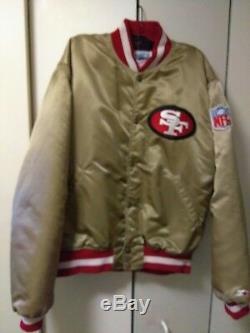 Vintage san francisco 49ers throwback satin starter jacket size (L)