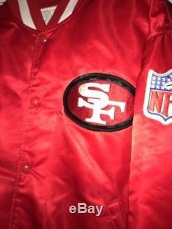 Vtg 1980-90s Men's L STARTER San Francisco 49ers Satin Jacket Red Rare Color