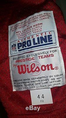 Vtg 1993 Steve Young Signed Authentic wilson Pro Line 49ers Jersey, COA BYU
