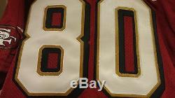 Vtg 1996 Jerry Rice 49ERS 50th wilson authentic JERSEY, signed, size 48