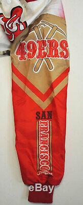 Vtg 80s Chalkline San Francisco 49ers Nylon Jacket Sm withMiner Art Starter