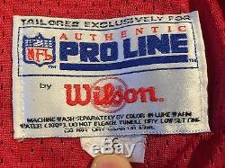 Vtg 90's Deion Sanders San Francisco 49ers Wilson Authentic Jersey 46 L NFL 75th