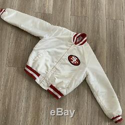 Vtg Chalk Line Jacket San Francisco 49ers Forty Niners Rare White Satin Large