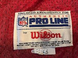 Vtg Deion Sanders San Francisco 49ers Niners Wilson Authentic Jersey 46 L NWT