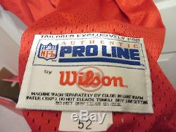 Vtg Deion Sanders San Francisco 49ers Wilson Authentic Jersey NFL 75th Anniv 52