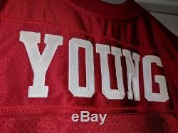 Vtg Steve Young 49ERS Authentic Wilson Proline jersey 46, rice, Signed COA