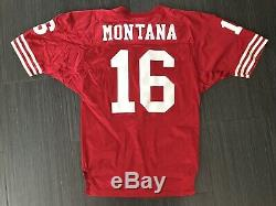 WILSON PRO LINE 1991 JOE MONTANA SAN FRANCISCO 49ers RED FOOTBALL JERSEY 48