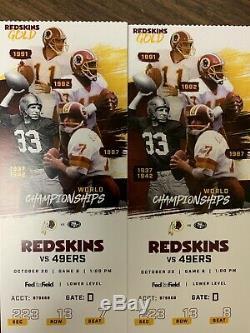 Washington Redskins vs. San Francisco 49ers Tickets