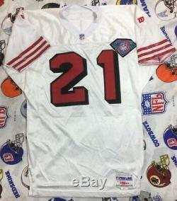 Wilson Pro Line 75TH San Francisco 49ers Deion Sanders NFL Jersey SZ 46 Pro Cut
