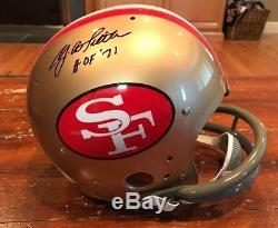 YA Tittle Autographed SF 49ers TK 2bar Suspension Helmet HOF 1971 PSA